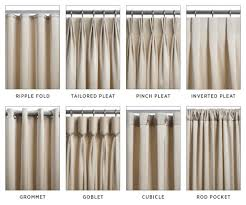 Cool Drapery Pleat Styles 59 Different Drapery Pleat Styles The Most Common  Interior Decorating and Home Design Ideas.