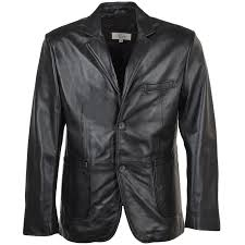 leather blazer jacket black nap william
