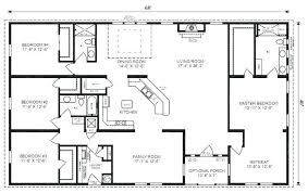 simple one story 4 bedroom house plans beautiful rectangle