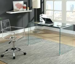 glass desk with shelves caraway clear glass desk chair sold separately glass computer desk with keyboard