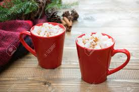cup of hot chocolate christmas. Brilliant Christmas Red Cup Of Hot Chocolate With Marshmallow On Windowsill Weekend Concept  Home Style On Cup Of Hot Chocolate Christmas I