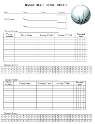 Basketball Score Sheets Basketball Score Sheet Excel Generic High School Template
