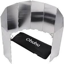 Ohuhu <b>Camp</b> Stove Windscreen <b>10 Plates</b> Aluminum <b>Folding</b>