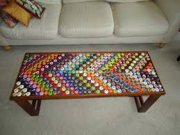 bottle cap furniture. DIY Bottle Cap Table Furniture O