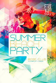 Flyer Template: Summer Beach Party Flyer Template Psd