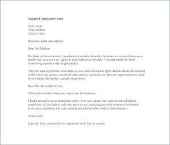 Complaint Letters Samples An Example Complaint Letter Complaint
