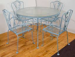 salterini wrought iron furniture. vintage salterini wrought iron table and chairs in powder blue 3 furniture g