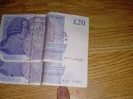 Fake 20 Pound Note Under Uv Light Fraudster Brazenly Selling Fake Bank Notes On Facebook And