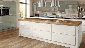 Cream Gloss Kitchen Welford Cream Handleless Multiwood