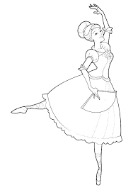 Coloring Page Ballerina Thecandlelady Co