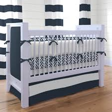 navy blue and white striped crib bedding designs