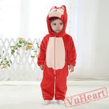Kigurumi Onesie Size Chart Baby Red Fox Kigurumi Onesies Pajamas Costumes Winter Pajamas