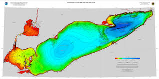 bathymetry of lake erie and lake saint clair  ncei