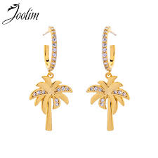 2019 <b>JOOLIM</b> Jewelry/ Light Yellow <b>Gold</b> Color Coconut Tree Drop ...