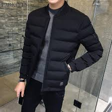 2019 cool black winter puffer jacket men youth brand mandarin collar cotton padded winter jackets mens short qulited winterjas heren from ingridea
