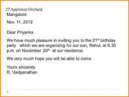 72 standard birthday invitation letter