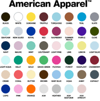 American Apparel 2001 Color Chart Buy Chairman Meow Army T