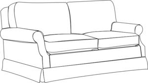 sofa clipart. sofa bw clip art clipart t