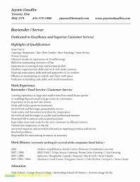 Example Bartender Resume Bartending Resume Templates