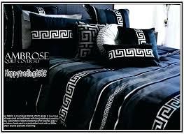 greek key bedding sets contemporary duvet cover navy