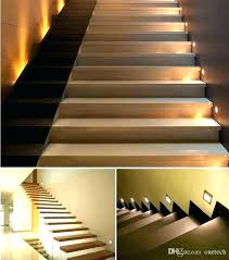stair lighting. Indoor Stair Lighting Interior Lights Led Wall Light Recessed Steps Lamps  Cob Night . Motion Sensor