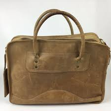 details about vintage orvis leather travel bag tote briefcase