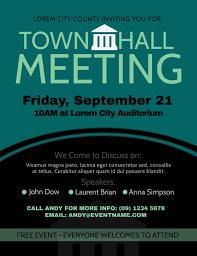 Meeting Flyer Design Townhall Meeting Poster Design Template Brochure Template