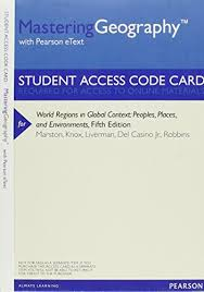 9780321860439: Mastering Geography with Pearson eText -- Valuepack Access  Card -- for World Regions in Global Context: Peoples, Places, and  Environments - AbeBooks - Marston, Sallie A.; Knox, Paul L.; Liverman, Diana
