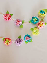 Paper Flower Backdrop Garland Sea Of Blooming Dreams A Month Of Florals Tissue Paper Floral