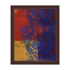 royal blue damask framed graphic wall art on damask framed wall art with graham forsythe autumn fireworks 31 x 31 framed art print free