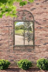 large rustic scroll garden outdoor wall