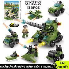 Bộ Đồ Chơi Lắp Ráp Xe Tăng Lego 138 Chi Tiết Đồ Chơi Trẻ Em Lego Xe Tank cho  bé từ 5 tuổi