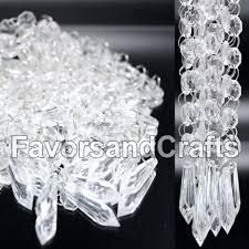 acrylic garland wedding acrylic garland strands diamond crystal bead chandelier hanging decor acrylic crystal garland acrylic diamond garland