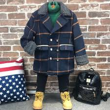 2017 Winter Toddler Boys Coats Warm Baby Clothes Plaid Jacket Children Clothing Fashion Kids Coat Outwear New Parka For Boy From
