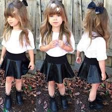 skirt girl toddler kids fashion kids fashion kids fashion girly skater skirt leather skirt bows hair