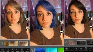 Hairstyle Simulator App hair color changing app youtube 1684 by stevesalt.us