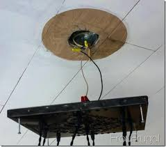 edison bulb chandelier wiring bare to ceiling hanging
