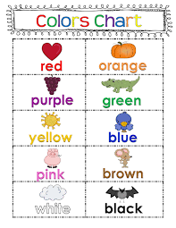 50 Followers And Freebies Color Word Chart