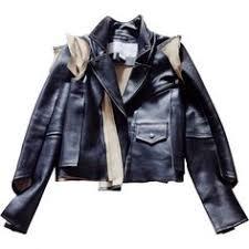 leather biker jacket maison martin margiela pour h m black