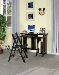 casual folding computer desk with keyboard tray and chair by coaster this compact computer desk set will be a nice addition to your home easily folding up
