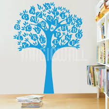 alphabet tree abc wall stickers
