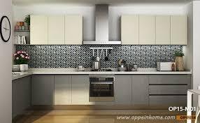 modern melamine kitchen cabinet in white grey color op15 m01