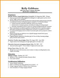 Resume Of A Language Teacher Resume For Study