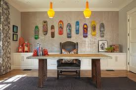 colorful office decor. Fun And Colorful Home Office Decorating Idea [Design: Brooke Wagner Design] Decor L