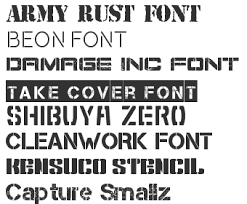 Stencil Fonts Stencil Army Fonts Download Top 40 Fonts4free