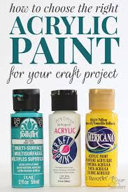 i always use acrylic paints for my diy projects so this is super helpful for