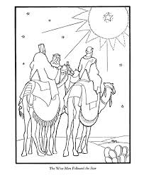 Small Picture Bible Printables The Christmas Story Coloring Pages Three Wise