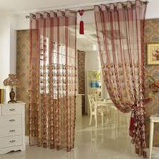 luxury interior design with luxurious red sheer curtain gold embroidery accents gold embroidery accents