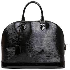 louis vuitton black patent epi leather large model alma bag for