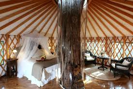 from luxury river or lake homes to cabins yoga retreats tees treehouses and even airstream trailers there are some really unique places to stay